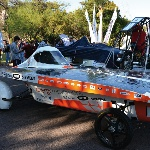 The Illanga II, a solar-powered vehicle designed and built by a group of UJ students, is amongst twelve local and international vehicles competing in the 2012 Sasol Solar Challenge